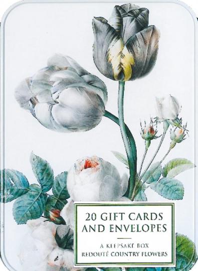 Gartenblumen von Pierre Josephe Redouté. Grußkarten.