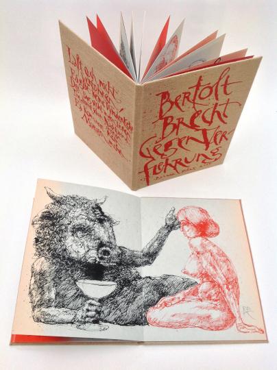 Gegen Verführung. Originalgrafisches Künstlerbuch nach Gedichten von Bertolt Brecht.