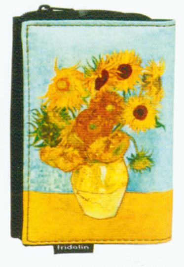 Geldbörse mit Van Goghs Sonnenblumen.