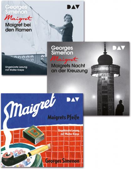Georges Simenon. 3 Fälle Maigrets. 8 CDs.