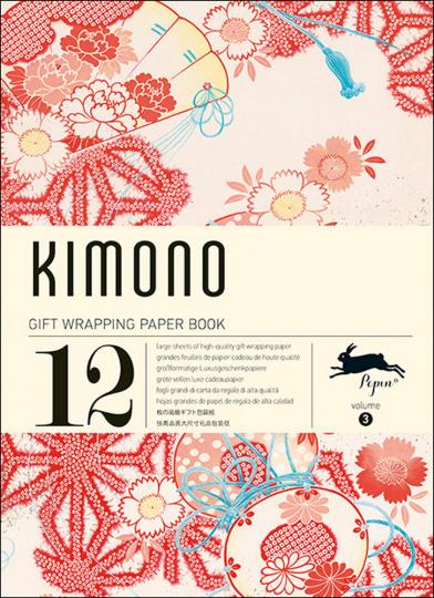 Geschenkpapier-Buch »Kimono«.