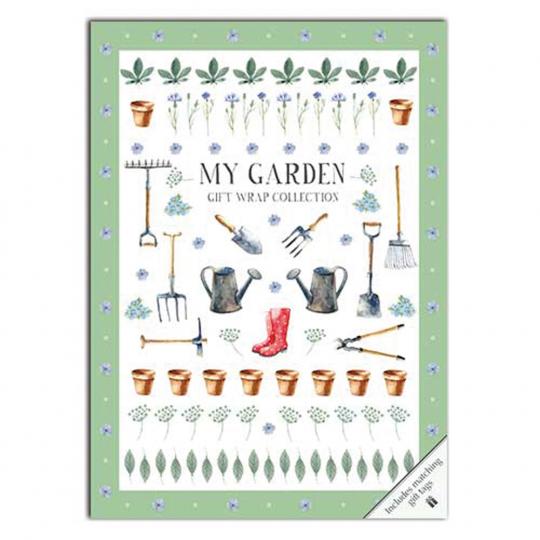 Geschenkpapier-Buch »Mein Garten«.