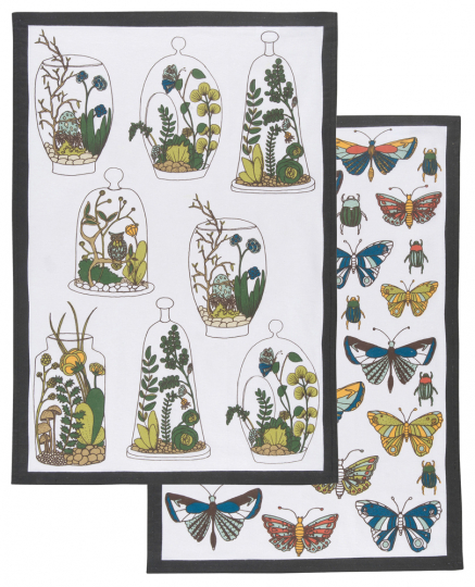 Geschirrtücher Schmetterlinge, 2er Set.