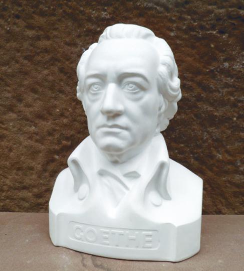 Gipsbüste Goethe.