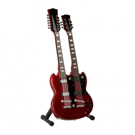 Gitarre Jimmy Page Doubleneck. Verkleinertes Modell.