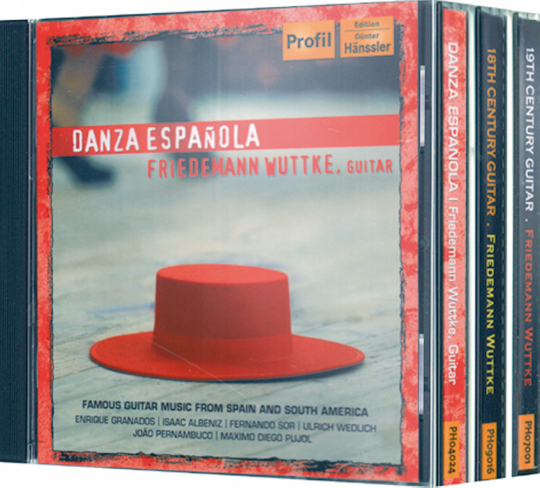 Friedemann Wuttke. Danza Espanola/18th Century Guitar/19th Century Guitar. 3 CDs.