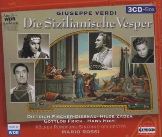 Giuseppe Verdi. I Vespri Siciliani (in dt.Spr.). 3 CDs.