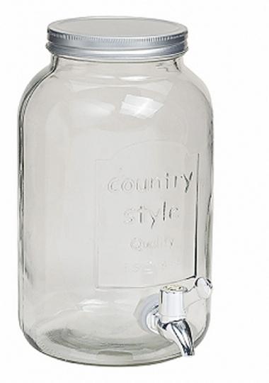Glas-Fass mit Zapfhahn