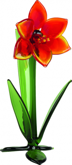 Glasblume »Amaryllis«.