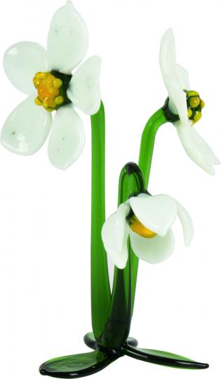 Glasblume »Christrose mit 3 Blüten«.