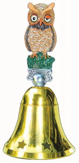 Glocke Eule - handbemalt