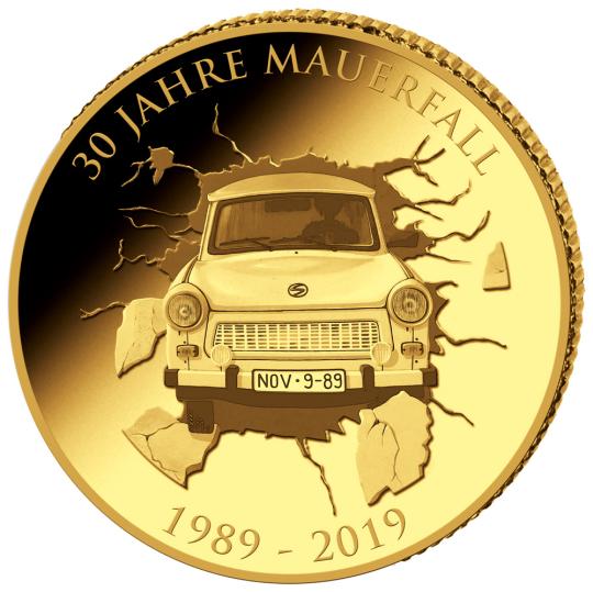 Goldmünze 30 Jahre Mauerfall - 0,5 g reinstes Gold!