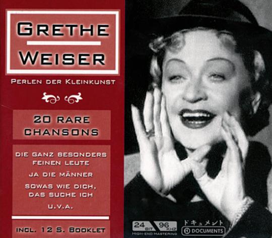 Grete Weiser: Perlen der Kleinkunst. CD.