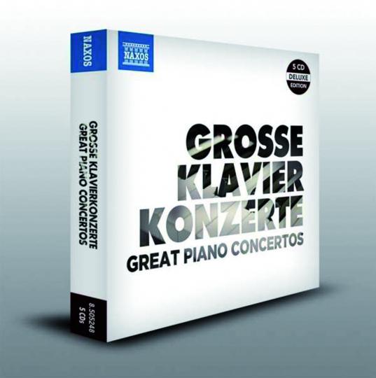 Große Klavierkonzerte. 5 CDs.