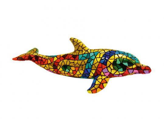 Großer Delfin aus Mosaiksteinen.