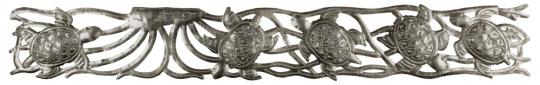 Großes Metallornament »Schildkröten«.