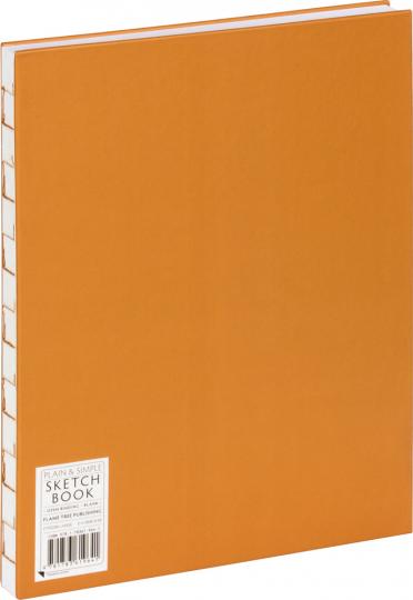 Großes Skizzenbuch mit Blanko-Seiten, braun. Koptische Bindung.