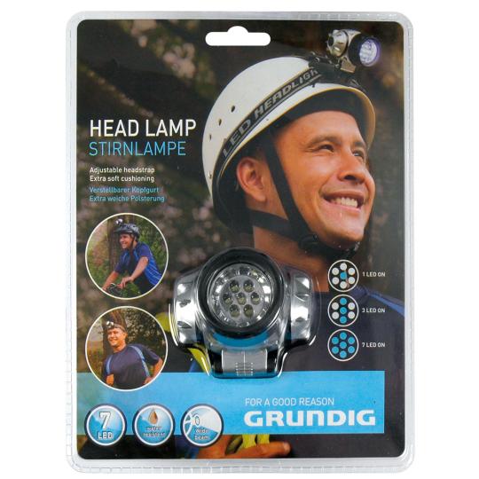 Grundig-Stirnlampe.