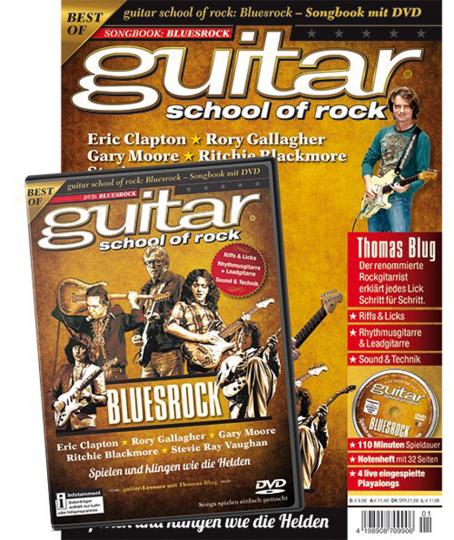 Guitar School of Rock. Bluesrock. Songbook mit DVD.