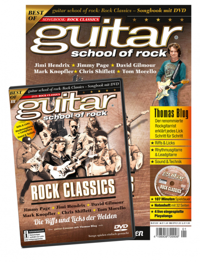 Guitar School of Rock. Rock Classics. Songbook mit DVD.