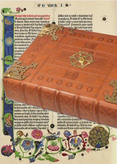 Gutenberg-Bibel. Berliner Exemplar mit Fuldaer Einband.