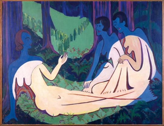 Hackstücke # 1. Ernst Ludwig Kirchner: »Drei Akte im Walde« 1934/35.