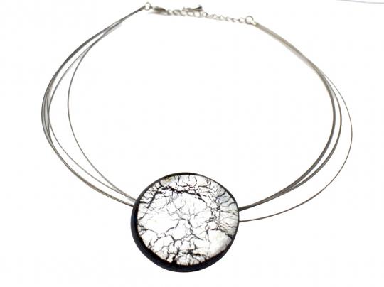 Halskette »Midnight Moon«, silber.