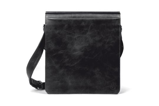 Handtasche mit Notebookfach, schwarz.