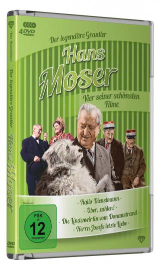 Hans Moser: Vier seiner schönsten Filme. 4 DVDs.
