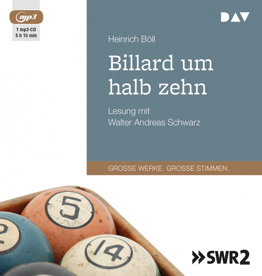 Heinrich Böll. Billard um halb zehn. mp3-CD.