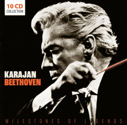 Herbert Von Karajan. Beethoven. Milestones. 10 CDs.