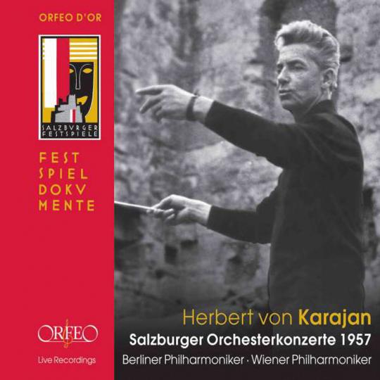 Herbert von Karajan. Salzburger Orchesterkonzerte 1957. 4 CDs.
