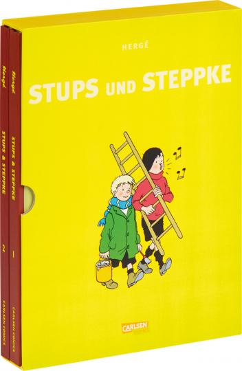 Hergé. Stups und Steppke. 2 Bände im Schuber.