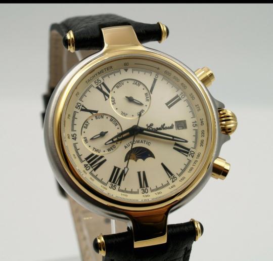 Herren-Armbanduhr mit Mondphase.