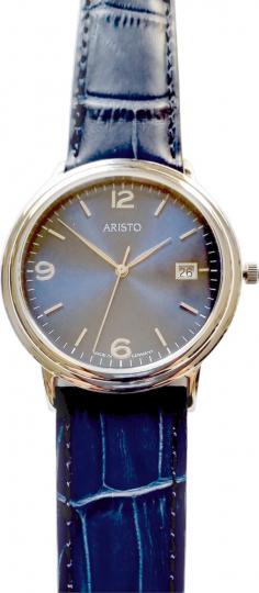 Herren-Armbanduhr, blau.