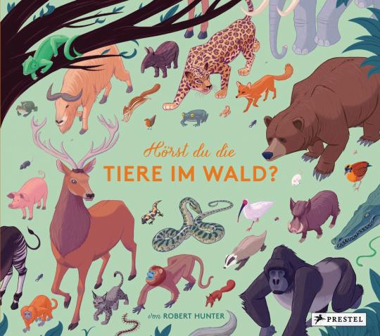 Hörst du die Tiere im Wald? Stimmen und Geräusche des Waldes auf 10 Sound-Modulen.