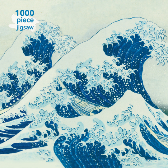 Kunstpuzzle mit 1000 Teilen. Hokusais »The Great Wave«.