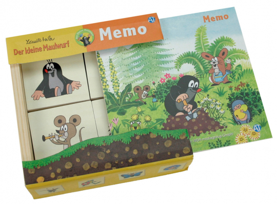 Holz-Memo »Der kleine Maulwurf«.