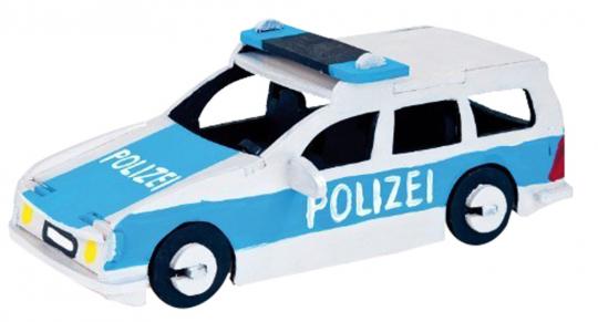 Holzbausatz Polizeiauto.