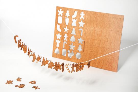 Holzpostkarten »Adventskalender«.