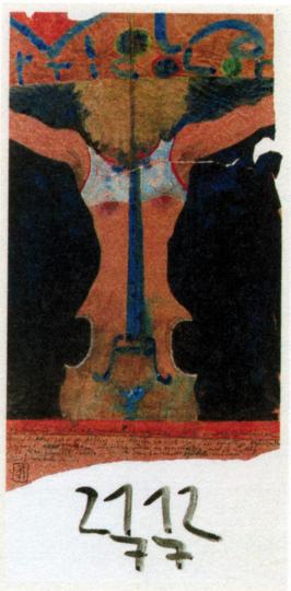 Horst Janssen. Viola tricolor. Plakat 1977.