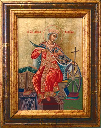 Ikone »Heilige Katharina von Alexandria«.