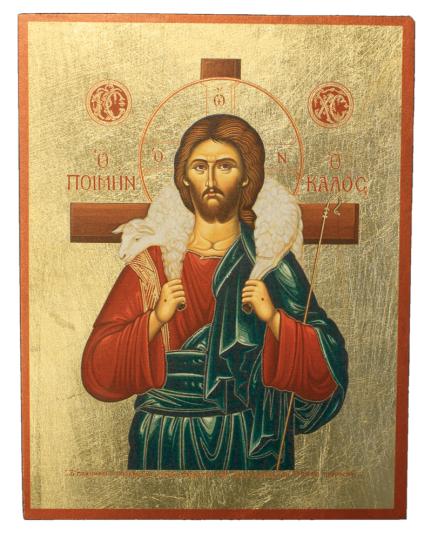 Ikone 'Christus, der gute Hirte'