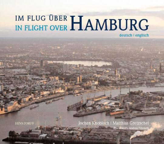 Im Flug über Hamburg. In Flight over Hamburg.
