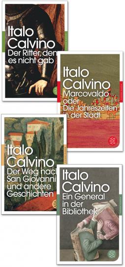 Italo Calvino Paket. Romane und Erzählungen. 4 Bände.