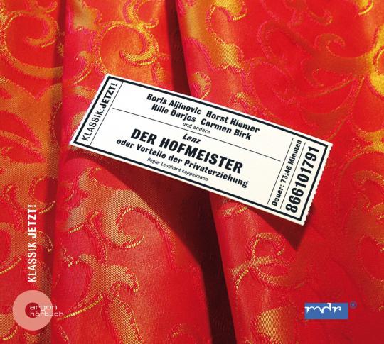 Jakob Michael Reinhold Lenz. Der Hofmeister. CD.