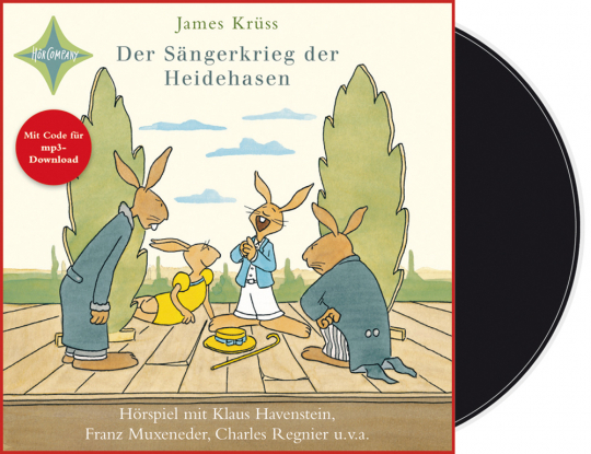 James Krüss. Der Sängerkrieg der Heidehasen. Vinyl-LP. Mit Code für mp3-Download.