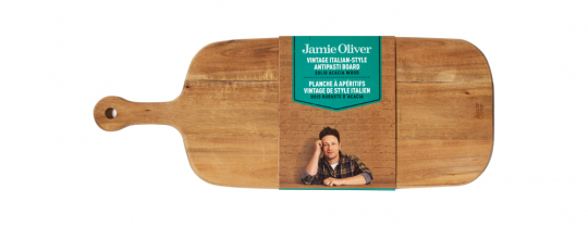 Jamie Oliver. Antipasti-Brett aus Akazienholz.