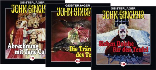 Jason Dark. John Sinclair Set. Träne des Teufels. Folgen 109-111. 3 CDs.