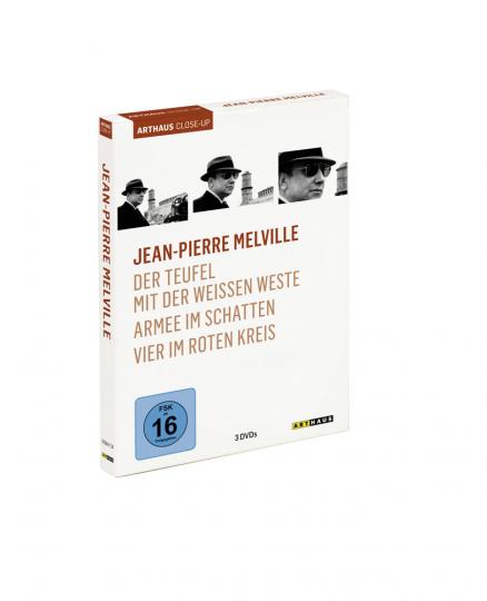 Jean-Pierre Melville. Der Teufel mit der weißen Weste, Armee im Schatten, Vier im roten Kreis. 3 DVDs.